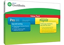 QuickBooks Pro with Enhanced Payroll 2015 for Windows (1 User) [Boxed]