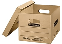 SmoothMove Small Classic Moving and Storage Boxes, 5/Bundle