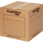 SmoothMove Medium Basic Moving Boxes, 20/Bundle