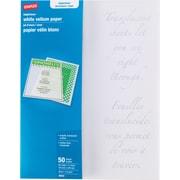 """Staples Inkjet/Laser White Vellum Paper, 8 1/2"""" x 11"""", 50/Pack"""