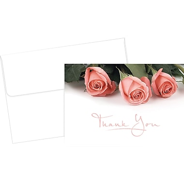 Great Papers® Pink Rose Petals Thank You Cards, 24/Pack