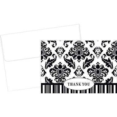 Great Papers® Black Damask Thank You Cards, 50/Pack