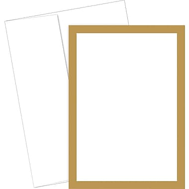 Great Papers® Metallic Gold Border Flat Card Invitation and Envelopes, 20/Pack