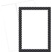 Great Papers® Polka Dot Border Flat Card Invitations, 20/Pack
