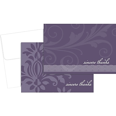 Great Papers® Amethyst Flourish Thank You Cards, 24/Pack