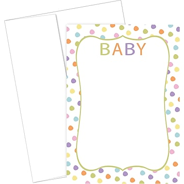 Great Papers® Baby Dots Flat Card Invitation and Envelopes, 20/Pack