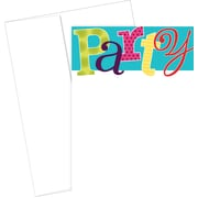 Great Papers® Patterned Party Flat Card Invitation and Envelopes, 20/Pack