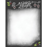 Great Papers® Holiday Stationery  Count Chalkboard, 80/Count