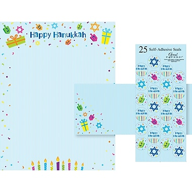 Great Papers® Holiday Stationery Kit Hanukkah Kit , 25/Count