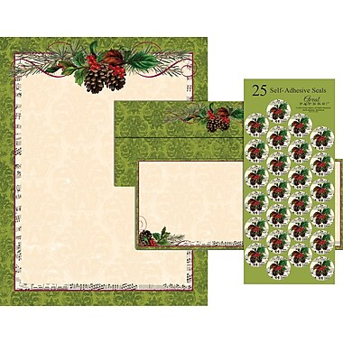 great papers stationery Great papers holiday stationery kit 8 12 x 11 poinsettia swirl set of 25, 50 lb paper is great for letters and announcements, features a holiday design for seasonal.