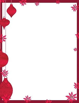 Great Papers Holiday Stationery Painted Poinsettia , 80/Count 1234451