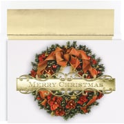 Great Papers® Holiday Cards Christmas Wreath , 18/Count