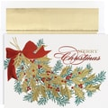 Great Papers® Christmas Holly Boxed Card Set, 16/Pack