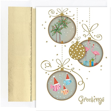 Great Papers® Holiday Cards Tropical Ornaments , 18/Count