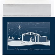 Great Papers® Holiday Cards Silver Nativity  , 16/Count