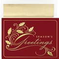 Great Papers® Season's Greetings Holly Boxed Card Set, 32/Pack