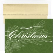 Great Papers® Christmas Greens Boxed Card Set, 16/Pack