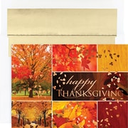 Great Papers® Holiday Cards Thanksgiving Leaves , 16/Count