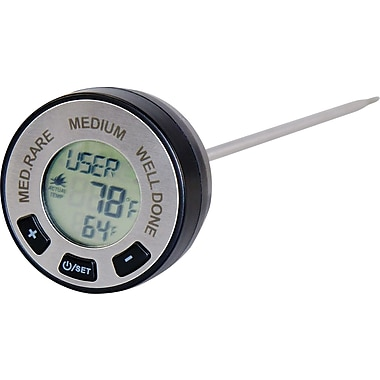 Man Law™ BBQ Digital Instant Read Meat Gauge Thermometer With 7 Preset Meat Types