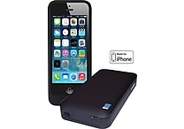 LifeCHARGE MFI Certified Extended Battery Case for Apple iPhone 5/5s, Black