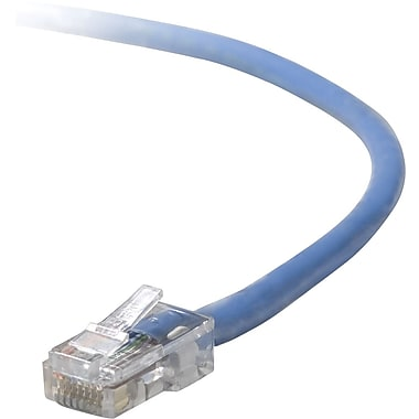 Staples 25' CAT5e Assembled Patch Cable RJ45M/RJ45M, Blue (26873)