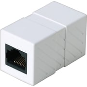 Staples CAT5E RJ45 Inline Coupler RJ45 Female/Female Straight Thru, White (26880)