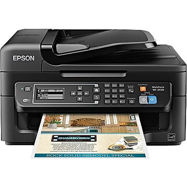 Epson WorkForce WF-2630 Color Inkjet All-in-One Printer, New