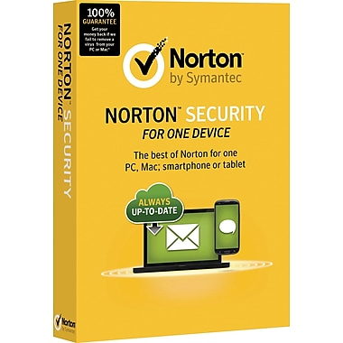 Norton Security 1 Device 1 User Product Key Card
