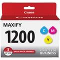 Canon PGI-1200 Color C/M/Y Ink Cartridges (9232B005), 3/Pack