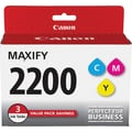 Canon PGI-2200 Color (C/M/Y) Ink Cartridges, 3/Pack