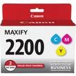 Canon PGI-2200 Color (C/M/Y) Ink Cartridges, 3/Pack
