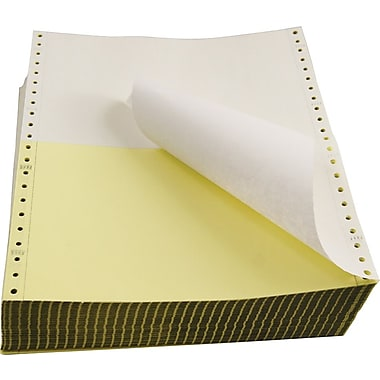Staples® Computer Paper, 2 Part, White/Canary, 9 1/2in. x 5 1/2in.