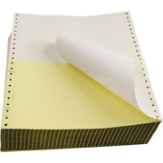"Staples Computer Paper, 9 1/2"" x 5 1/2"", White/Canary, 2 Part"