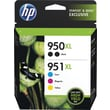 HP 950XL/951XL High Yield Black and C/M/Y Color Ink Cartridges (F6V12FN#140), Combo 5/Pk