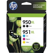 HP 950XL 951XL Color Ink Cartridges, C/M/Y, Combo Pack (F6V12FN#140)