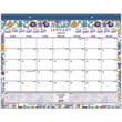 """2015 Staples® Floral Monthly Desk Pad, 21-3/4"""" x 17"""""""