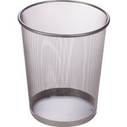 Honey Can Do Steel Mesh Waste Basket, Silver, 4.75 Gallon, 2/Pack