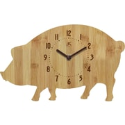 Infinity Instruments Pork Chip Bamboo Wood Wall Clock