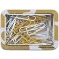 Cynthia Rowley Paper Clip Tin, Gold Abstract