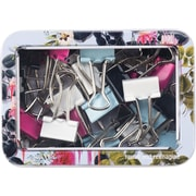 Cynthia Rowley Binder Clip Tin, Light Blue Floral (26914)