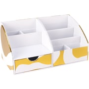 Cynthia Rowley Desktop Organizer, Gold Abstract (43597)