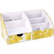 Cynthia Rowley Desktop Organizer, Yellow Leaves (43598)