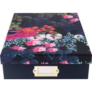 Cynthia Rowley Document Box, Dark Blue Floral (43601)