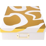 Cynthia Rowley Document Box, Gold Abstract (43602)