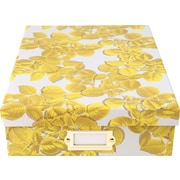 Cynthia Rowley Document Box, Yellow Leaves (43603)