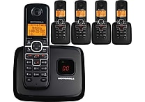 Motorola 5 Handset 6.0 Cordless Phone with Caller ID and Digital Answering Machine