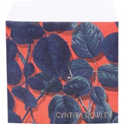 "Cynthia Rowley Sticky Cube, Red/Blue Leaf, 2.75""x2.75"" (26891)"