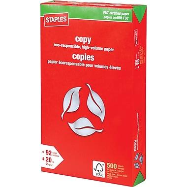 Staples® FSC-Certified Copy Paper, 20 lb., 8-1/2