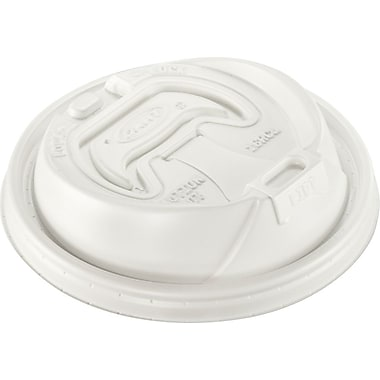 Dart® 16RCL Reclosable Lid For 12 - 24 oz. Hot/Cold Foam Cup, White, 1000/Case
