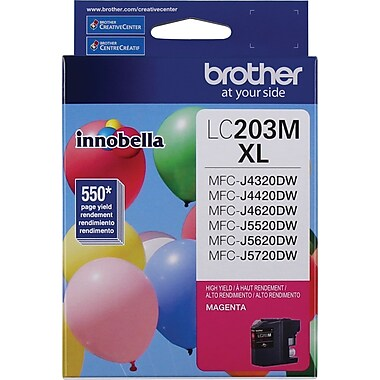 Brother Ink Cartridge, Magenta, High Yield (LC203MS)